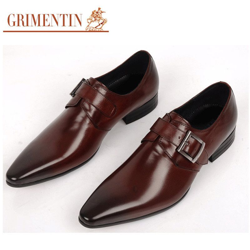c001e47a4aee GRIMENTIN fashion Italian luxury mens shoes casual oxfords black brown  designer genuine leather dress shoes