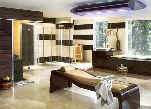 Baño de lujo con solarium #Bathroom luxury design Diseños de - cocinas grandes de lujo