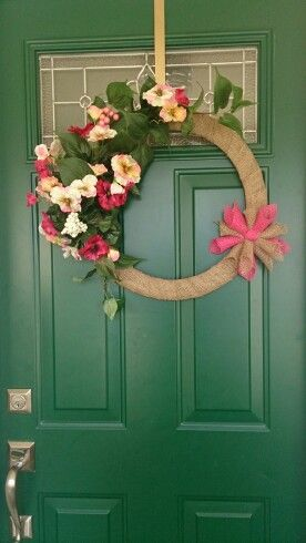 Hot pink wreath by LadyV