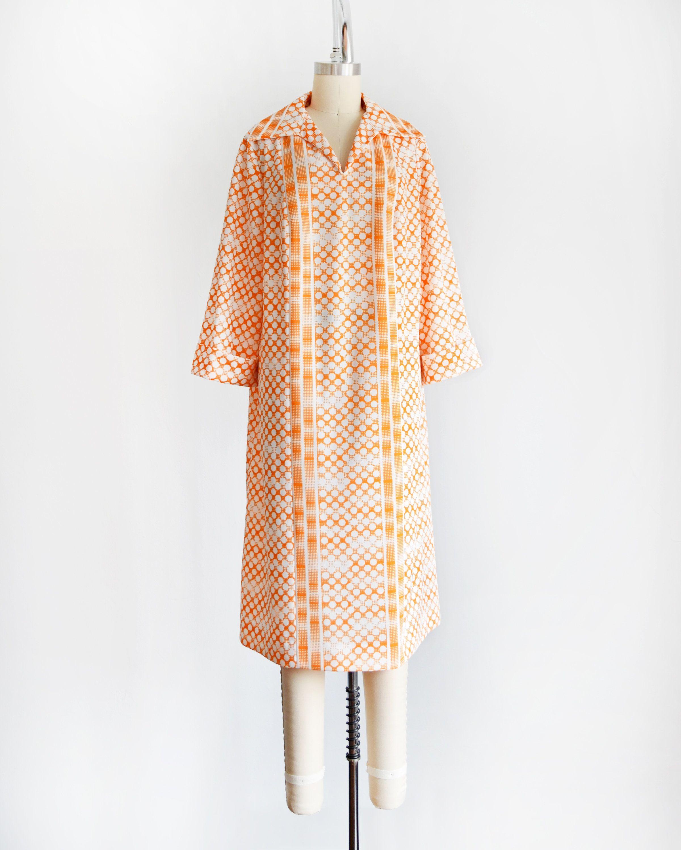 70s Polka Dot Dress Vintage 1970s Mod Shift Dress Orange Etsy Polka Dot Dress Dot Dress Polka Dot Dress Vintage [ 3000 x 2400 Pixel ]