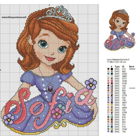 Principessa Sofia Schema Punto Croce By Syra1974 Dawgm6n Jpg 2967 2940 Disney Cross Stitch Disney Cross Stitch Patterns Cross Stitch