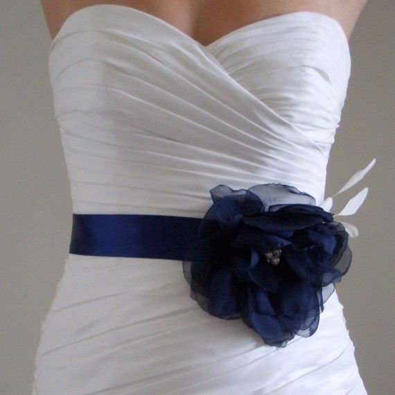 Love The Color Navy BlueIm In With Wedding Dress Sashes And Belts I Plan On Collecting Them To Wear Sundresses Etc