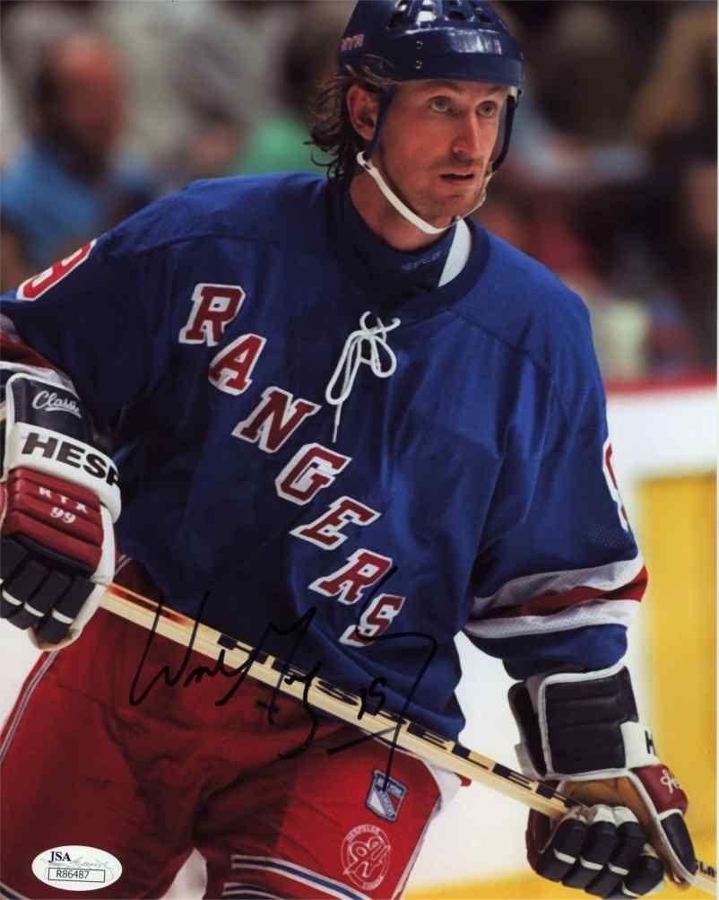 Wayne Gretzky NY Rangers Signed 8x10 Photo Certified