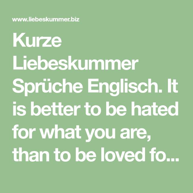 Liebeskummer englisch Liebeskummer
