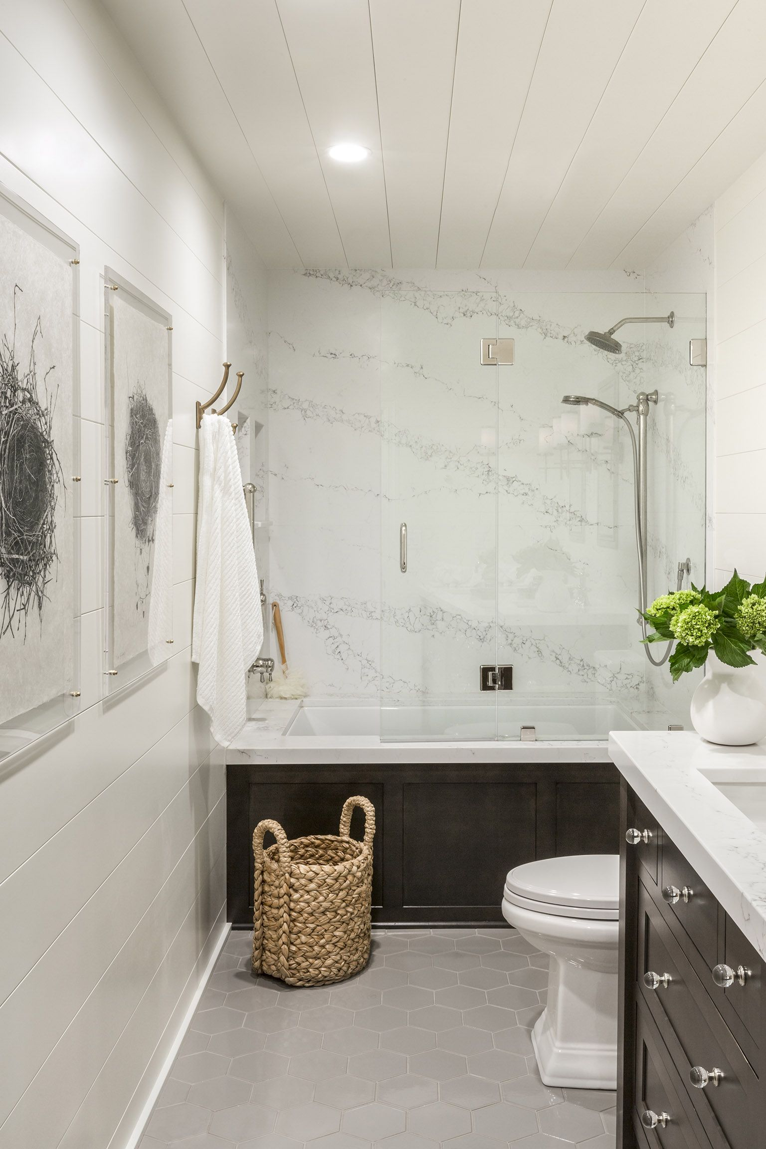 Hall Bathroom Remodel By R. Cartwright Design
