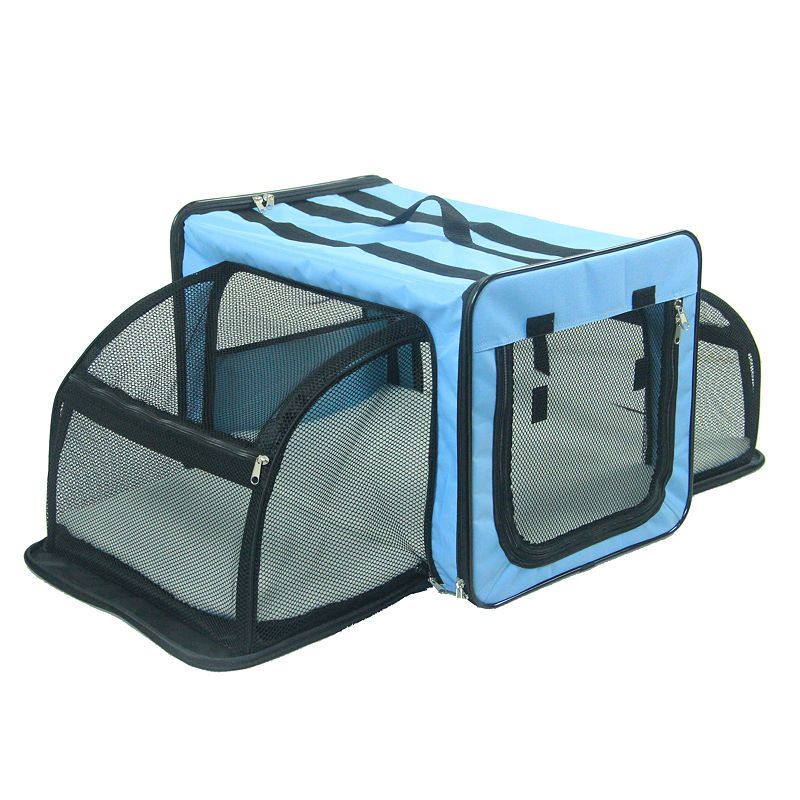 Pet Life Capacious Dual Expandable Wire Folding Lightweight