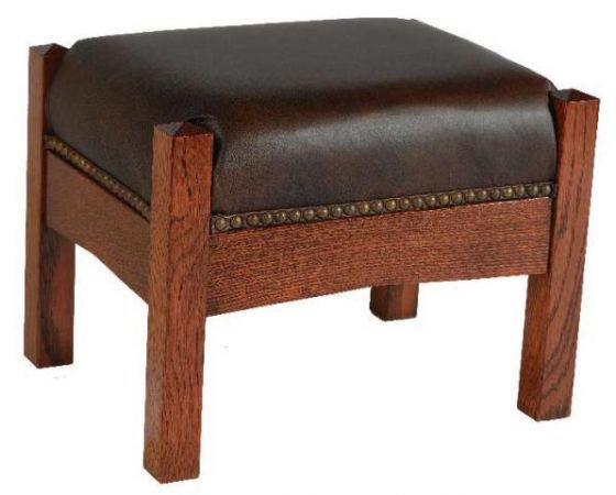 Arts And Crafts Mission Footstool Lodge Furniture