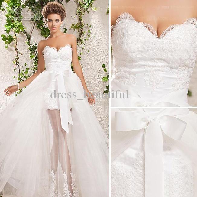 Long To Short Wedding Dress - Ocodea.com