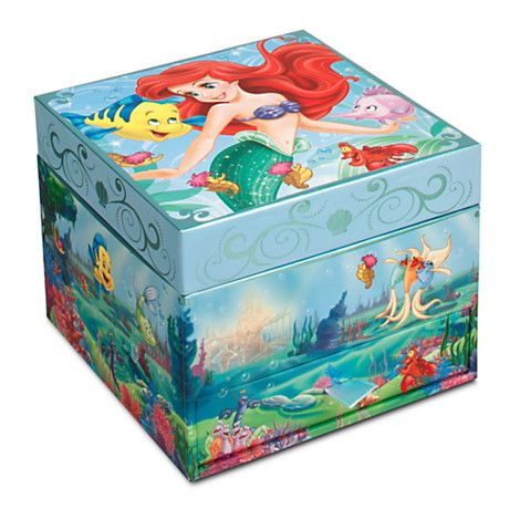 Ariel Jewelry Box Jewelry Disney Store Heroes and Villains