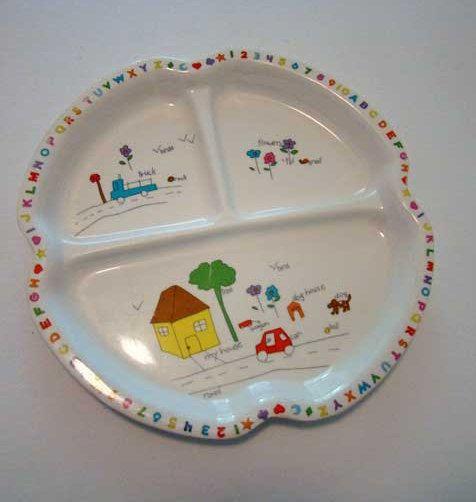 Vintage Child S Dish Melamine Ware Dish Children S Dish Child S Plate Plastic Dish Sectional Dish Kids Divided Plate Childrens Dishes Vintage Children Plates