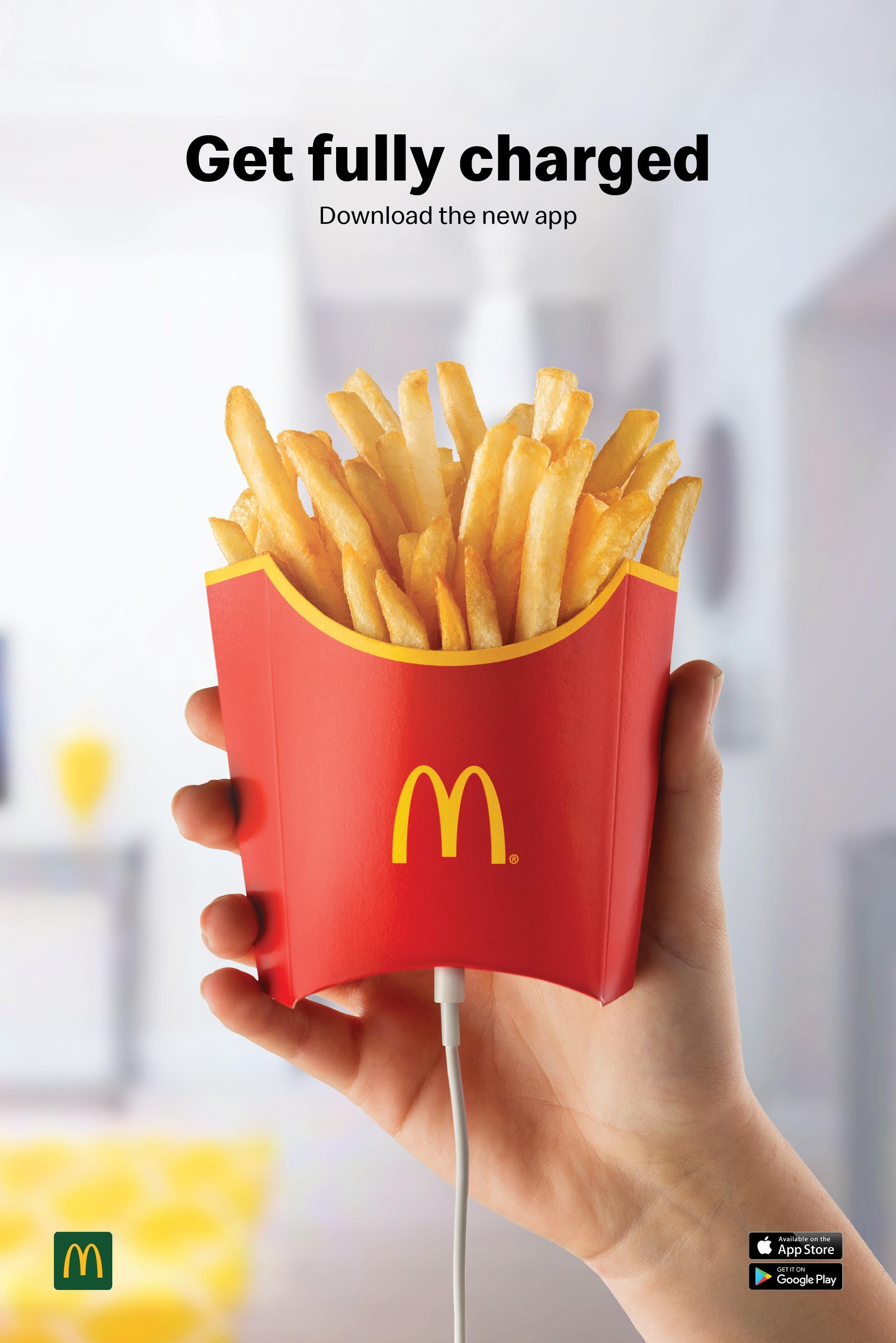 Mcdonald S Outdoor Advert By Tbwa Mcdonald S New App 1 Ads Of The World With Images Ads Creative Creative Advertising Design Ads Creative Advertising Ideas