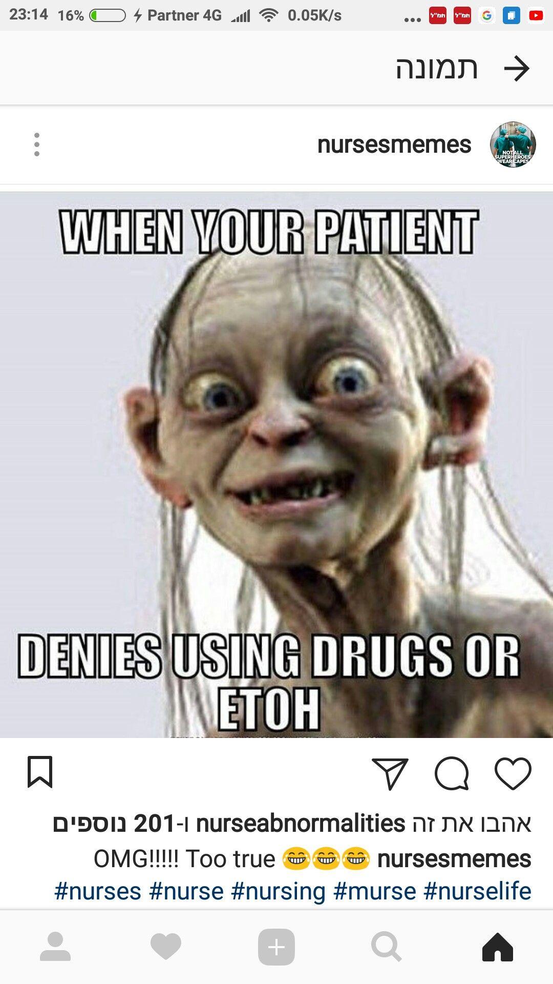 Pin By Carol Blackwell On ממים Nurse Memes Humor Nurse Jokes Social Work Humor