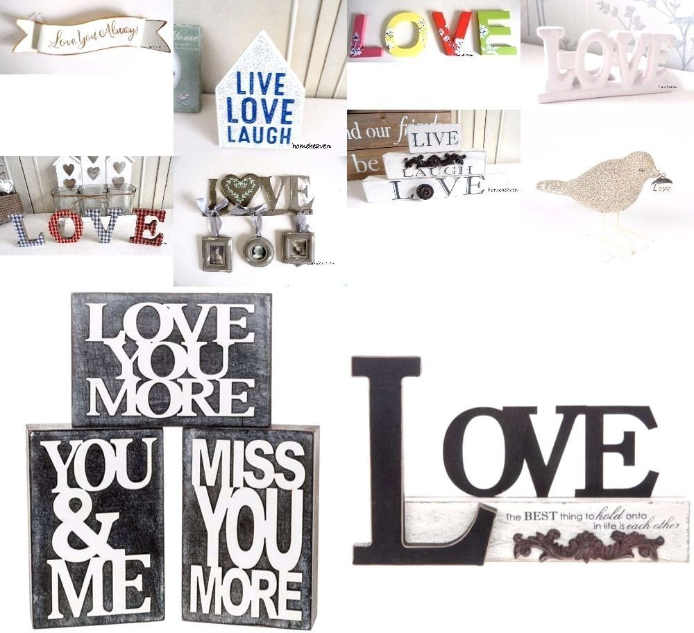 Love Word Ornament Wooden Letters Wall Hanging Love You More