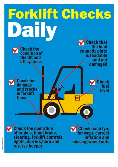 Forklift dailycheck signs pinterest safety safety posters and forklift dailycheck publicscrutiny Image collections
