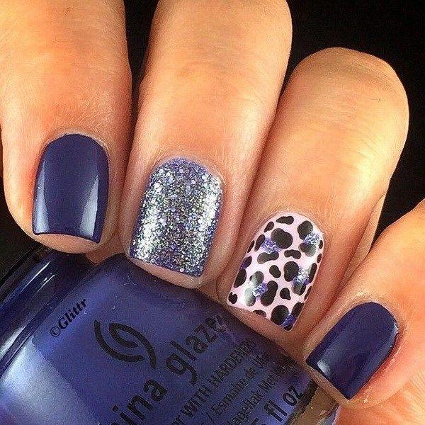 40 blue nail art ideas blue nails art dark blue nails and blue 40 blue nail art ideas prinsesfo Image collections