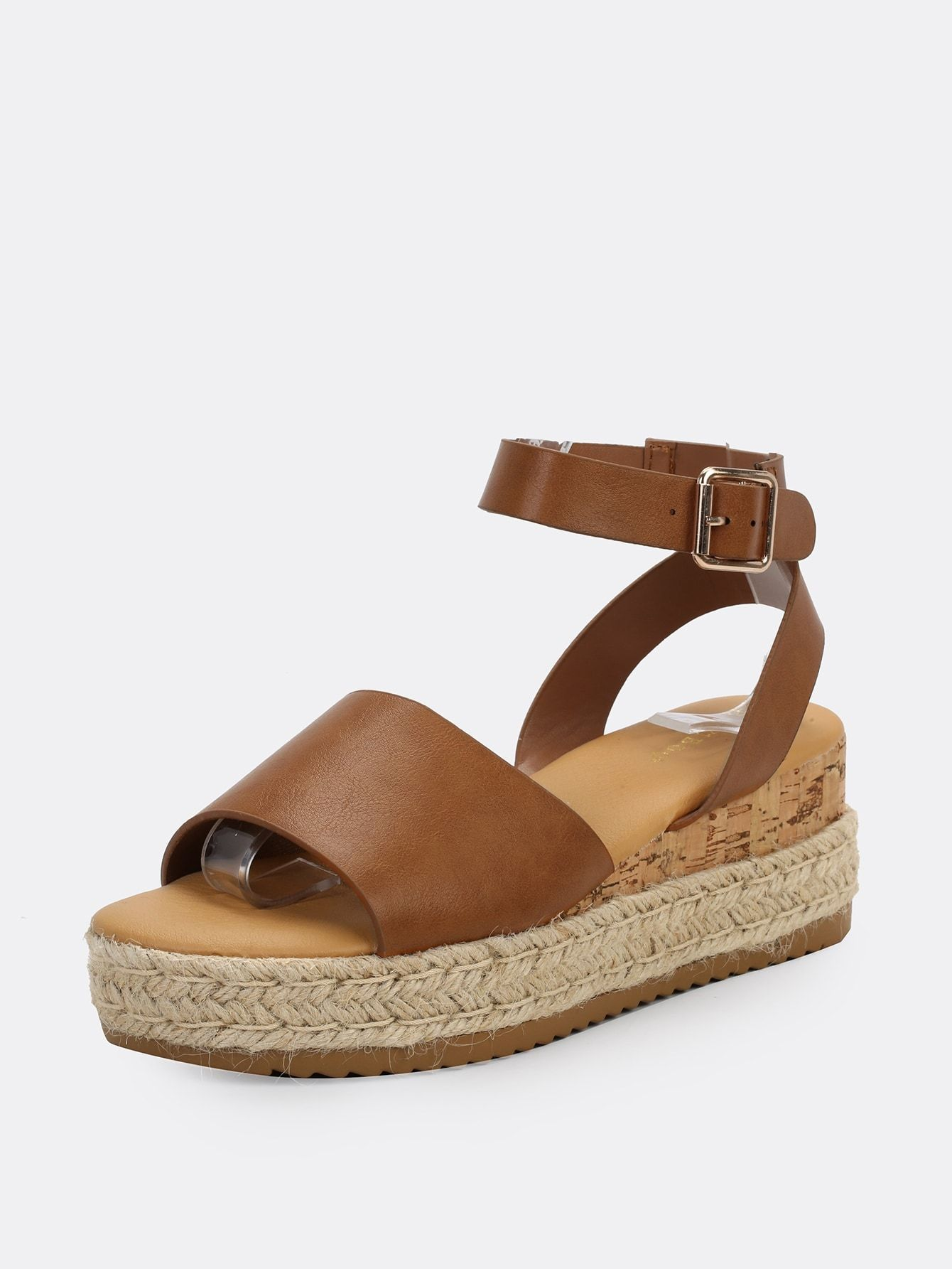 Ad: Single Band Buckled Ankle Jute Low Wedge Sandals. Tags: Buckle, Rubber, Tan, Faux Leather, Mid Heel, Open Toe, Platform, Ankle strap, Espadrille, Boho #fashion #womenfashion #womenclothes #shein #lowwedgesandals Ad: Single Band Buckled Ankle Jute Low Wedge Sandals. Tags: Buckle, Rubber, Tan, Faux Leather, Mid Heel, Open Toe, Platform, Ankle strap, Espadrille, Boho #fashion #womenfashion #womenclothes #shein #lowwedgesandals