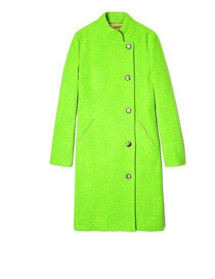 Acne  neon  green  Suzanne  coat