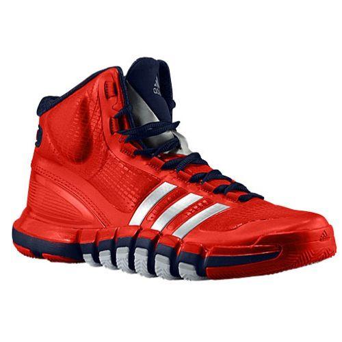Adidas Adipure Crazyquick Men Light Scarlet/Metallic Silver/Collegiate Navy Basketball Shoes