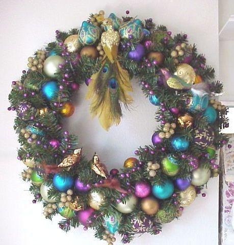Peacock Wreath by Enchanted Rose Studio, via Flickr