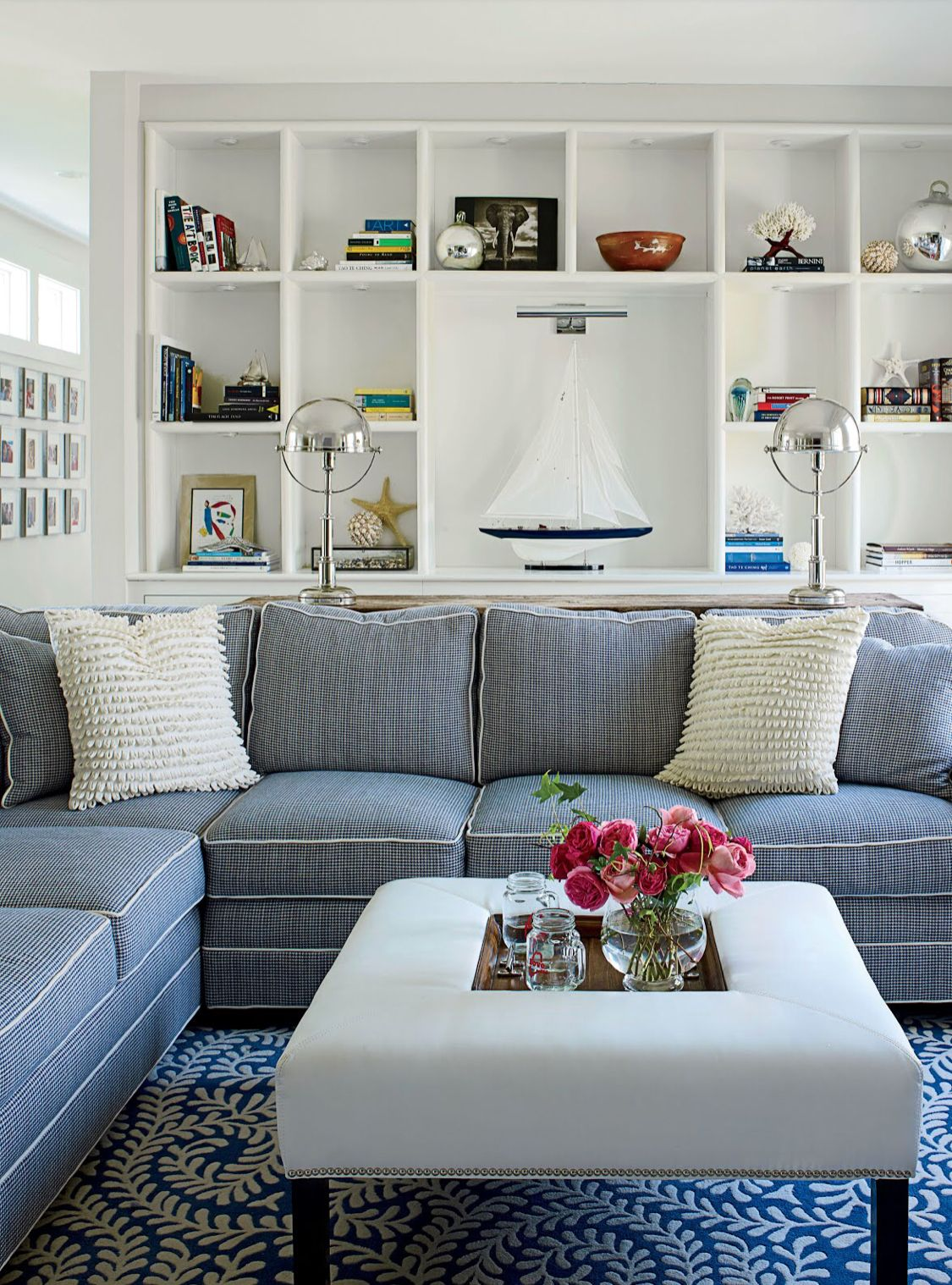 Love Mix Cottage Living Rooms Blue Living Room White Family Rooms