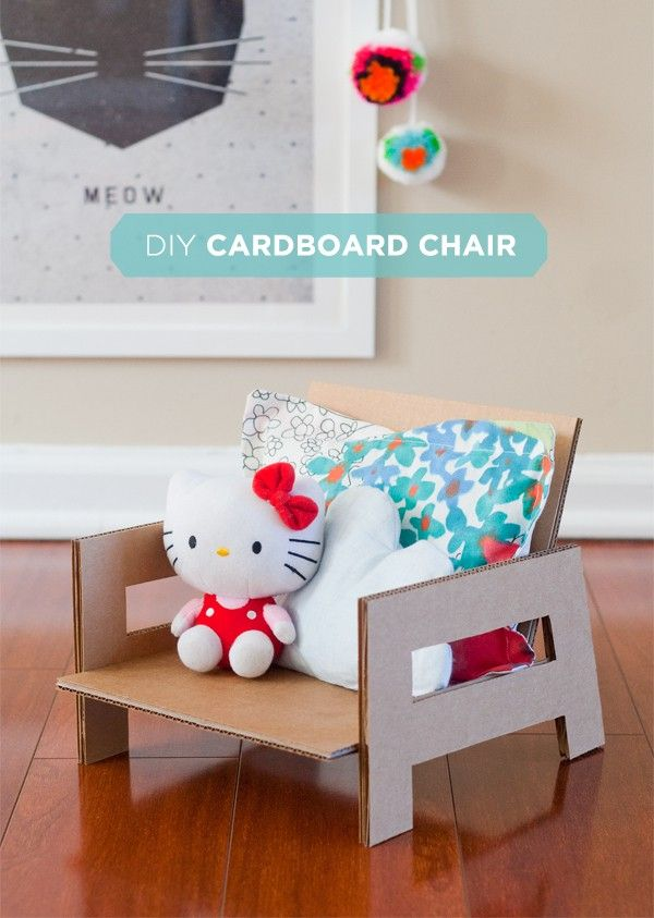 diy cardboard toy chair hellobee children play cardboard rh pinterest com  diy high chair toy