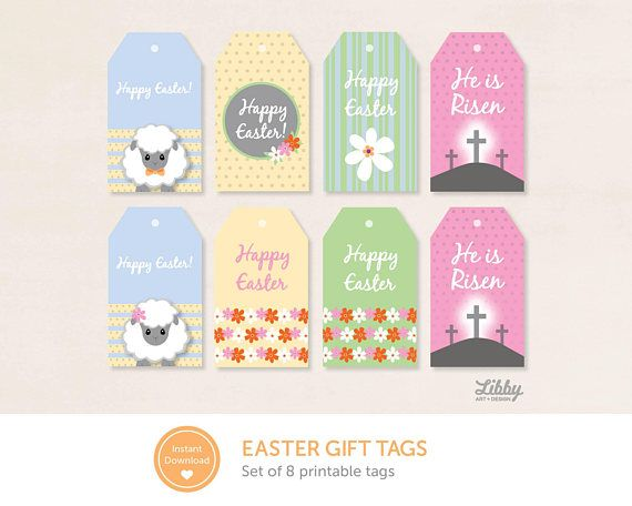 Easter gift tags printable instant download gift tags easter gift tags printable instant download negle Gallery