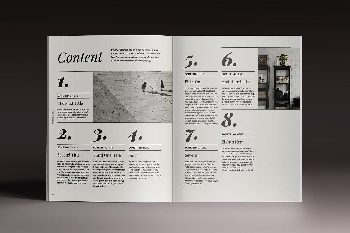 Brogazine Indesign Template - Magazines #editorial #magazine