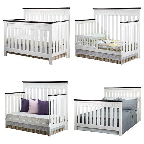 delta chalet 4 in 1 convertible crib white ambiance dark chocolate delta babies r us. Black Bedroom Furniture Sets. Home Design Ideas