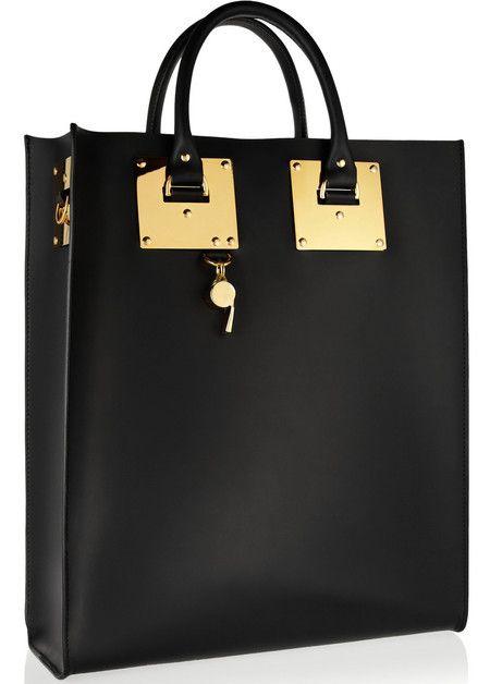 Sophie Hulme Leather Tote Bag Black Handbag British Designers New Designer Bags