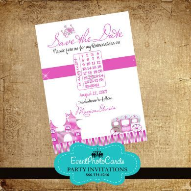 Save The Date Princess Quinceanera | Princess Quinceanera ...