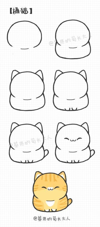Wie zeichnet man ein Kawaii Cute Kitty; 3 #ad – children pencil drawings – #ad #Cute #draws #ein #k