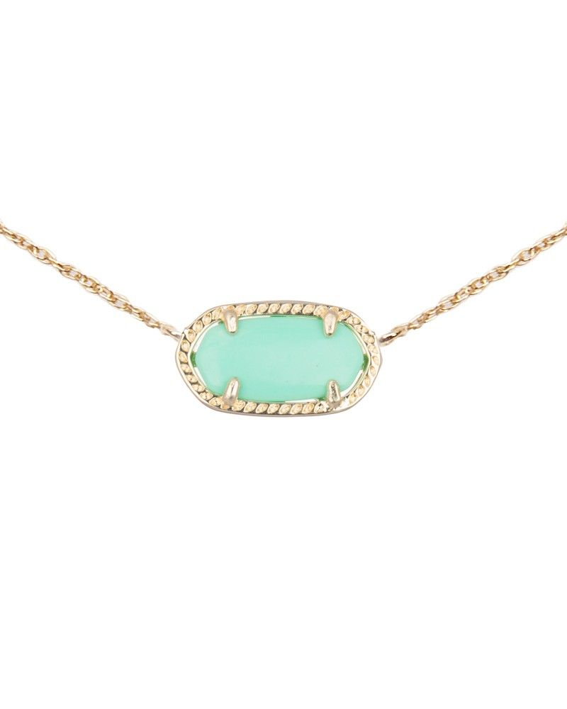 Elisa pendant necklace in mint kendra scott jewelry necklaces