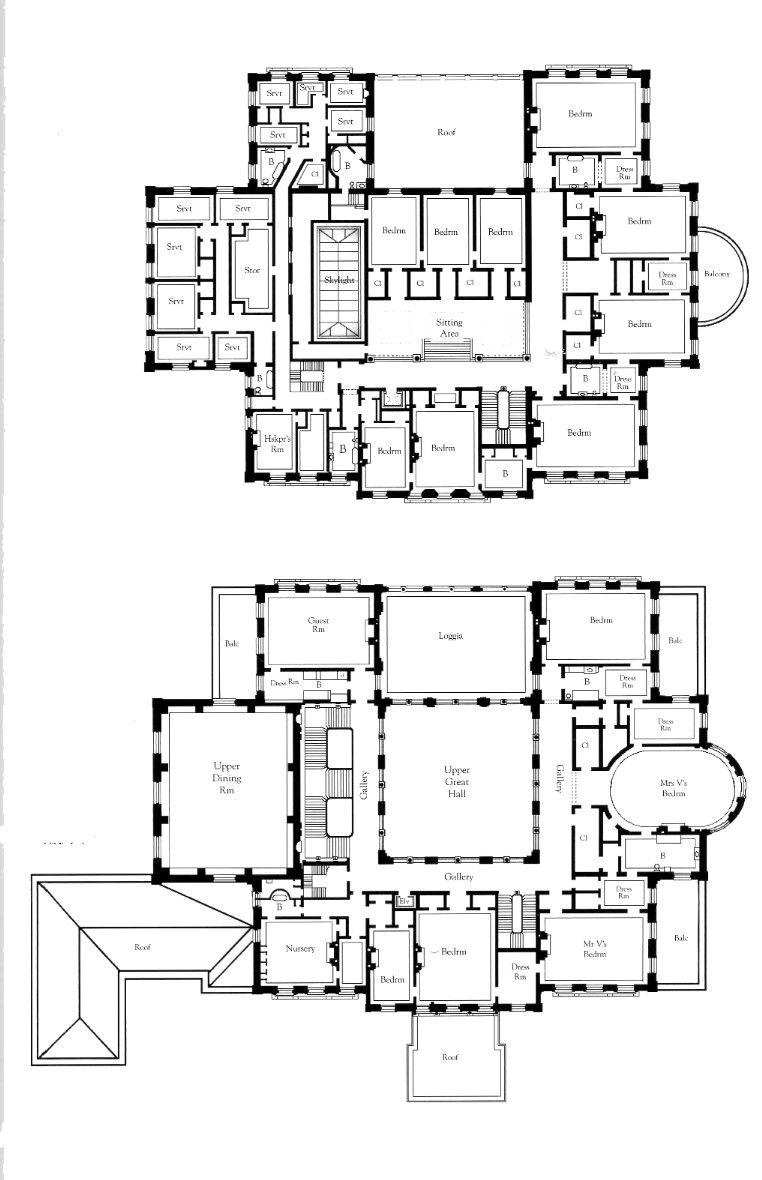 Pin By Exemplarium On Diagrams Floorplans Mansion Floor Plan House Floor Plans Architectural Floor Plans