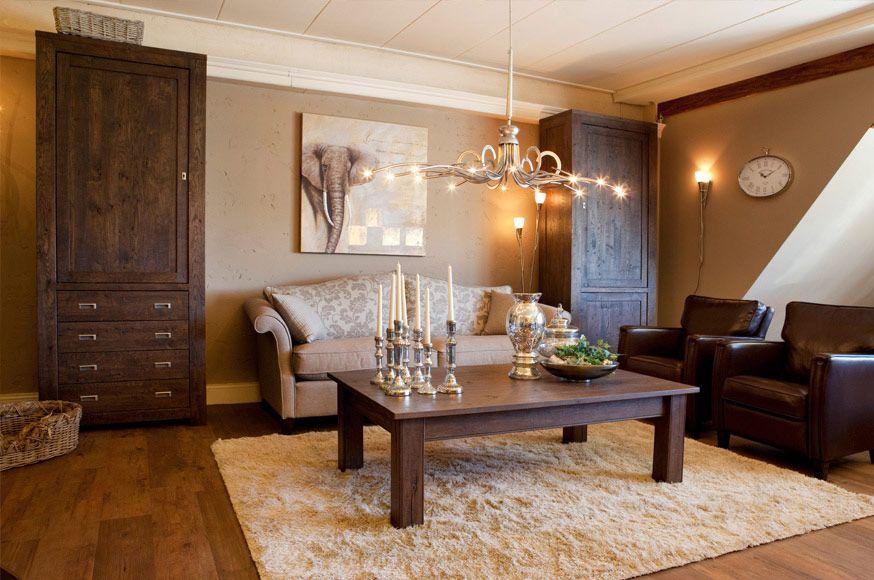 romantische eiken woonkamer rustic pinterest
