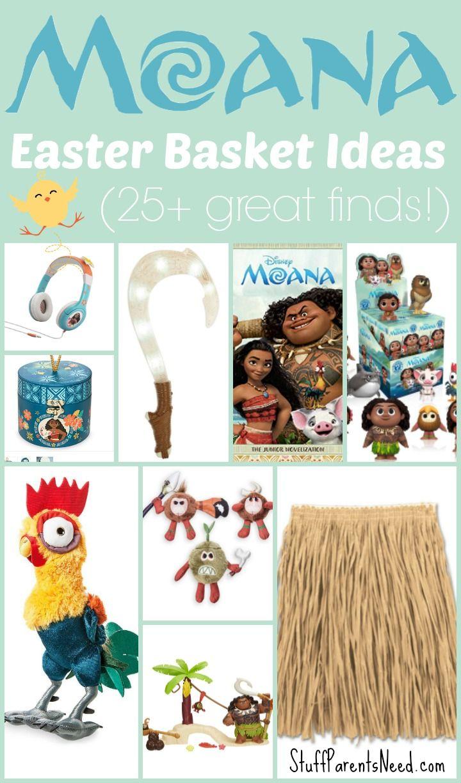 Creative easter gift ideas - 25 Moana Inspired Easter Basket Ideas