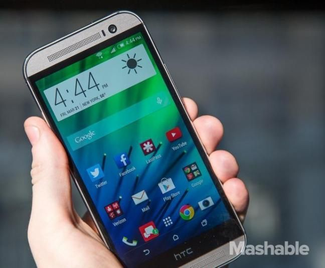The HTC One M8.
