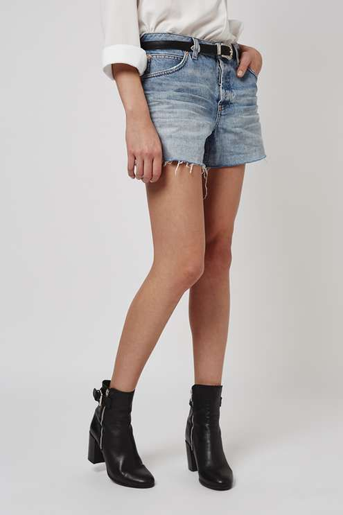 65d9c63fa6 Borrow from the boys and up-the-ante on denim cut-offs with these vintage  wash shorts. Cut with a mid-rise waist, they come detailed with a longer  length ...