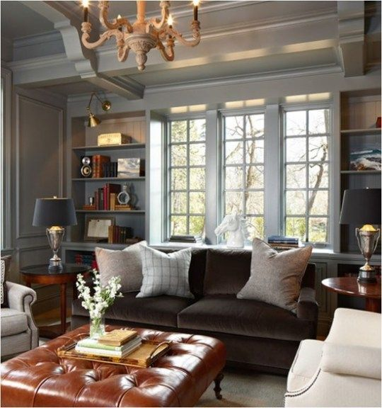 Brown Velvet Sofa Architecture: Living Room, Family Room