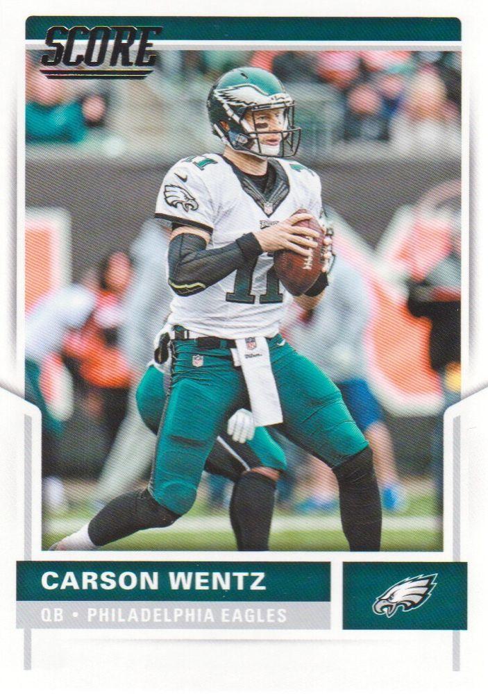 first rate ad998 93c7a Details about 2017 Score Carson Wentz Philadelphia Eagles ...