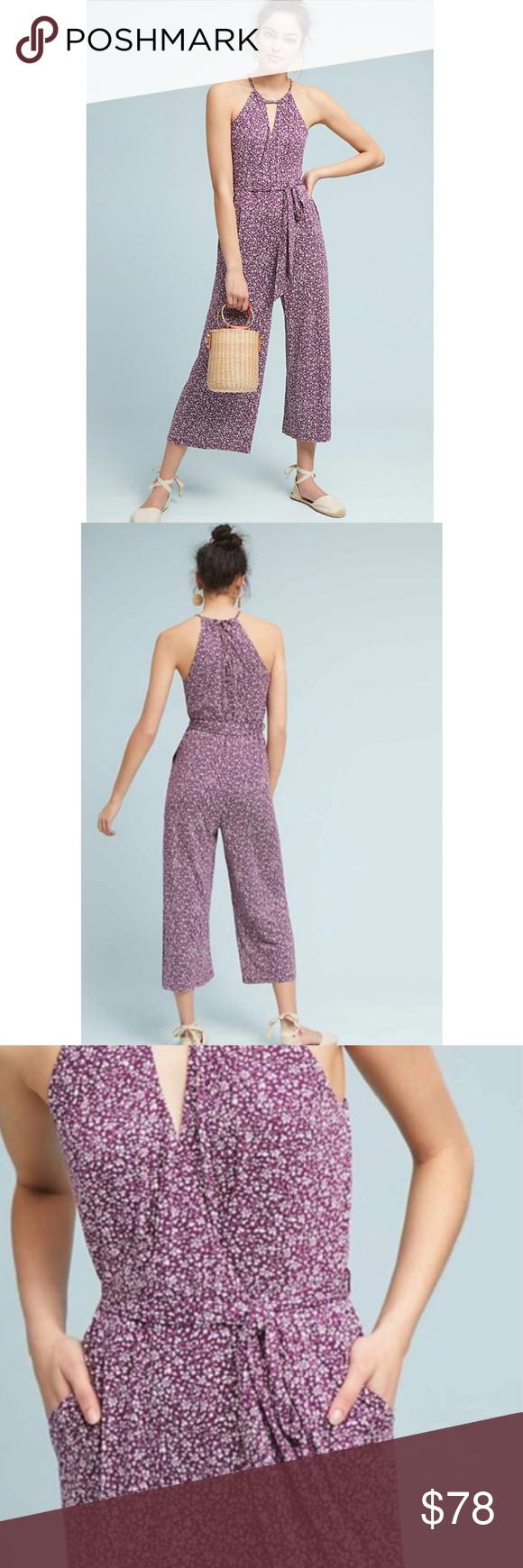 180ee9bbe0eb Anthropologie Maeve Claremont Purple Jumpsuit NWT New with tags. Anthropologie  Maeve Claremont jumpsuit. Purple