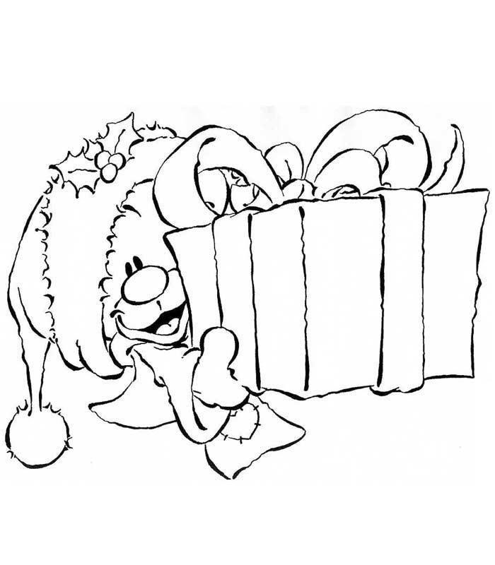 Coloriage pimboli offrant un cadeau zeichnungen - Cadeau coloriage ...