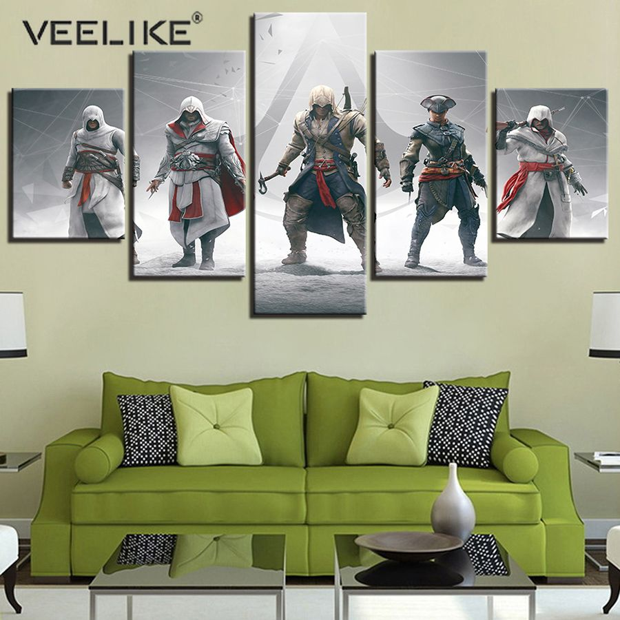 Movie Poster Living Room Wall Decor Canvas Painting 5 Picture Ink Jet Mural Figure Vintage Posters And Prints Kids Room Wall Art In 2020 Kids Room Wall Art Canvas Wall Decor Living