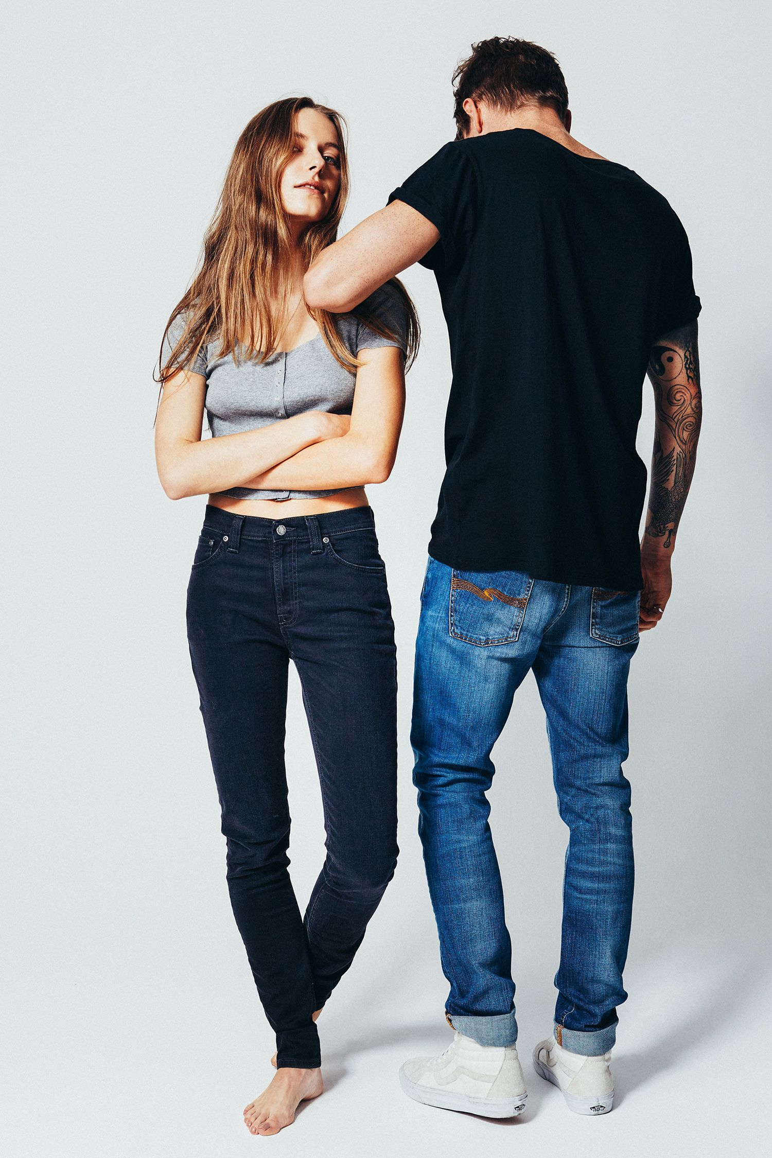 Nudie Jeans (Pipe Led) organic cotton, made in Italy. Jeans pipe led