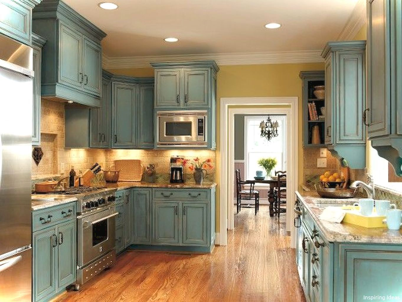 Gorgeous 50 Rustic Cottage Kitchen Cabinets Ideas