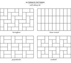 Image Result For Metro Tile Patterns