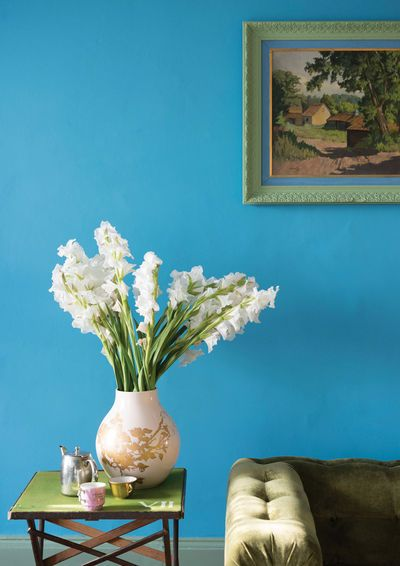 Farrow & Ball Au mur : St Giles Blue No.280 Emulsion mate