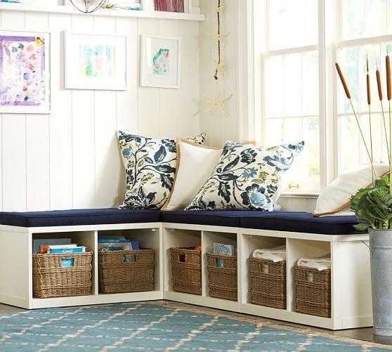 Ryland modular banquette cushion pottery barn corner for Reading nook cushion