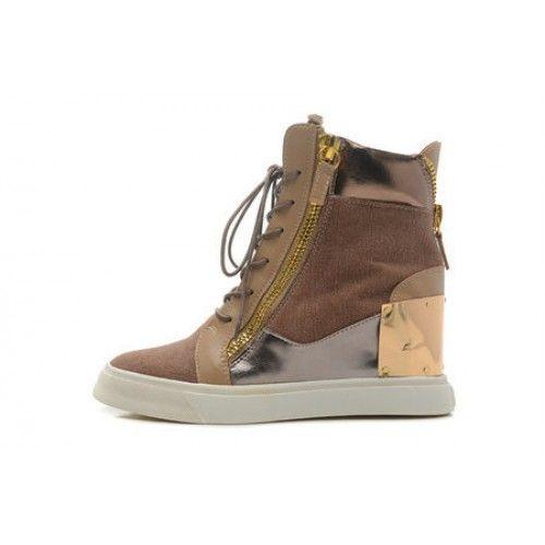 Giuseppe Zanotti Damen Sneakers Billige Schuhe Braun