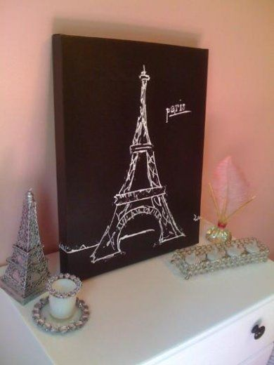 Eiffel tower. I found this on sale at Hobby Lobby! $15.00