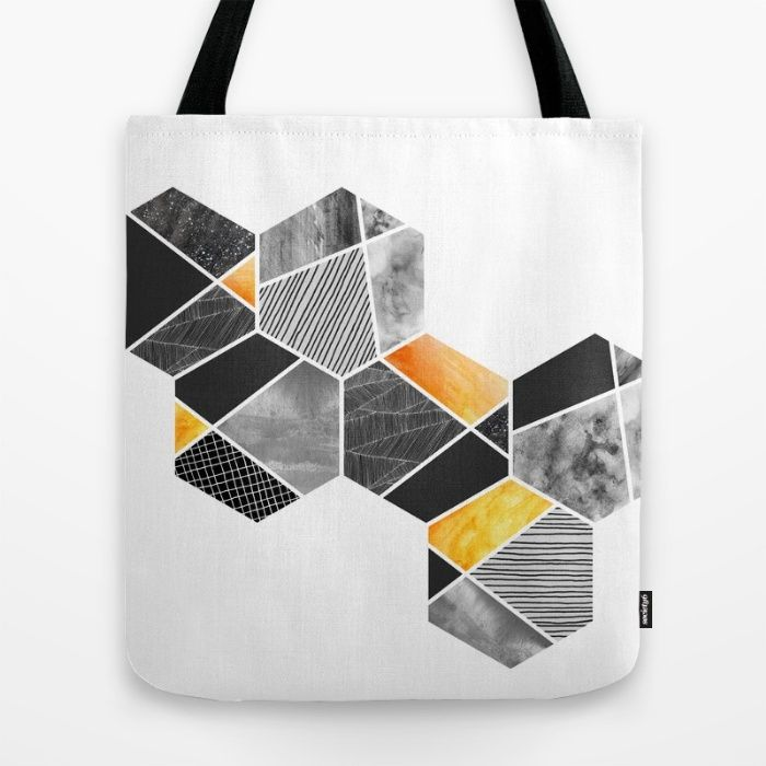 VIDA Tote Bag - Rectangles 2 by VIDA vq9QNCgEWV